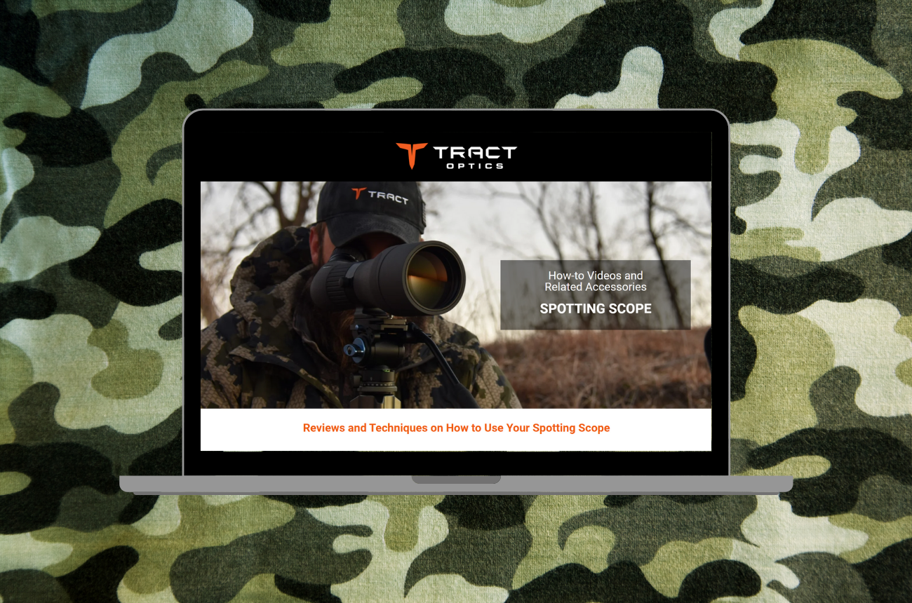 TRACT Optics Spotting Scope Landing Page