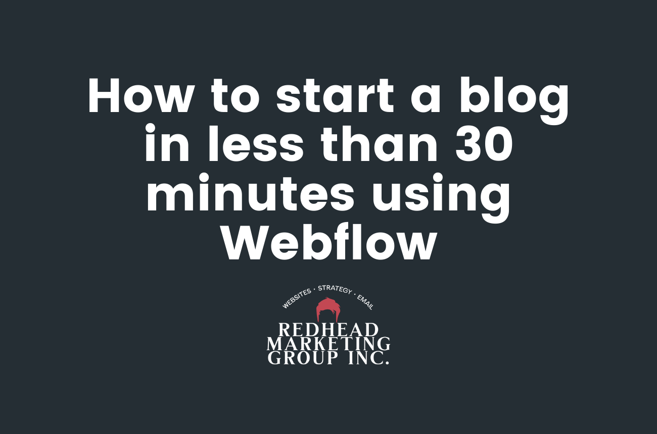 How to start a blog in less than 30 minutes using Webflow