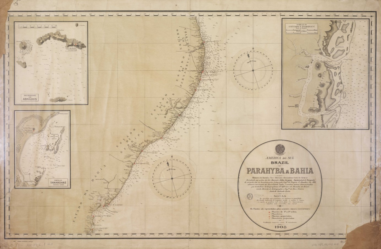América do Sul (Brazil): Parahyba a Bahia