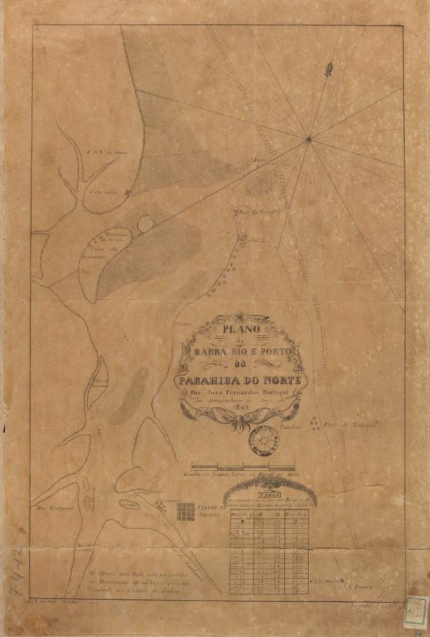 Plano da barra rio e porto da Parahiba do Norte