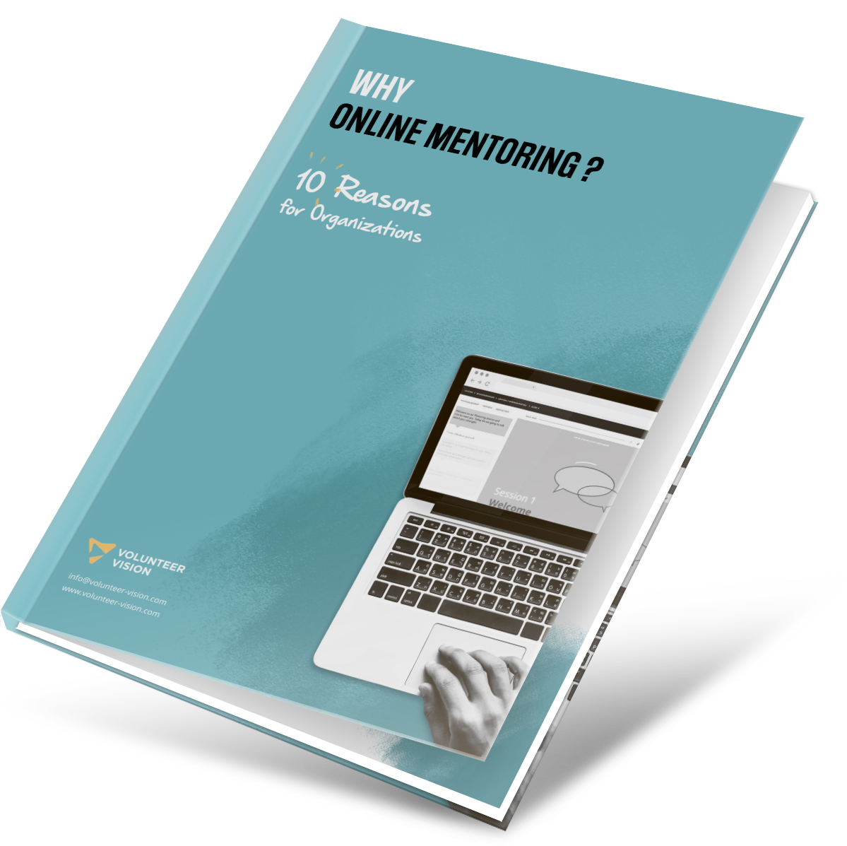 """Mockup of our first whitepaper """"Why Online Mentoring?"""""""