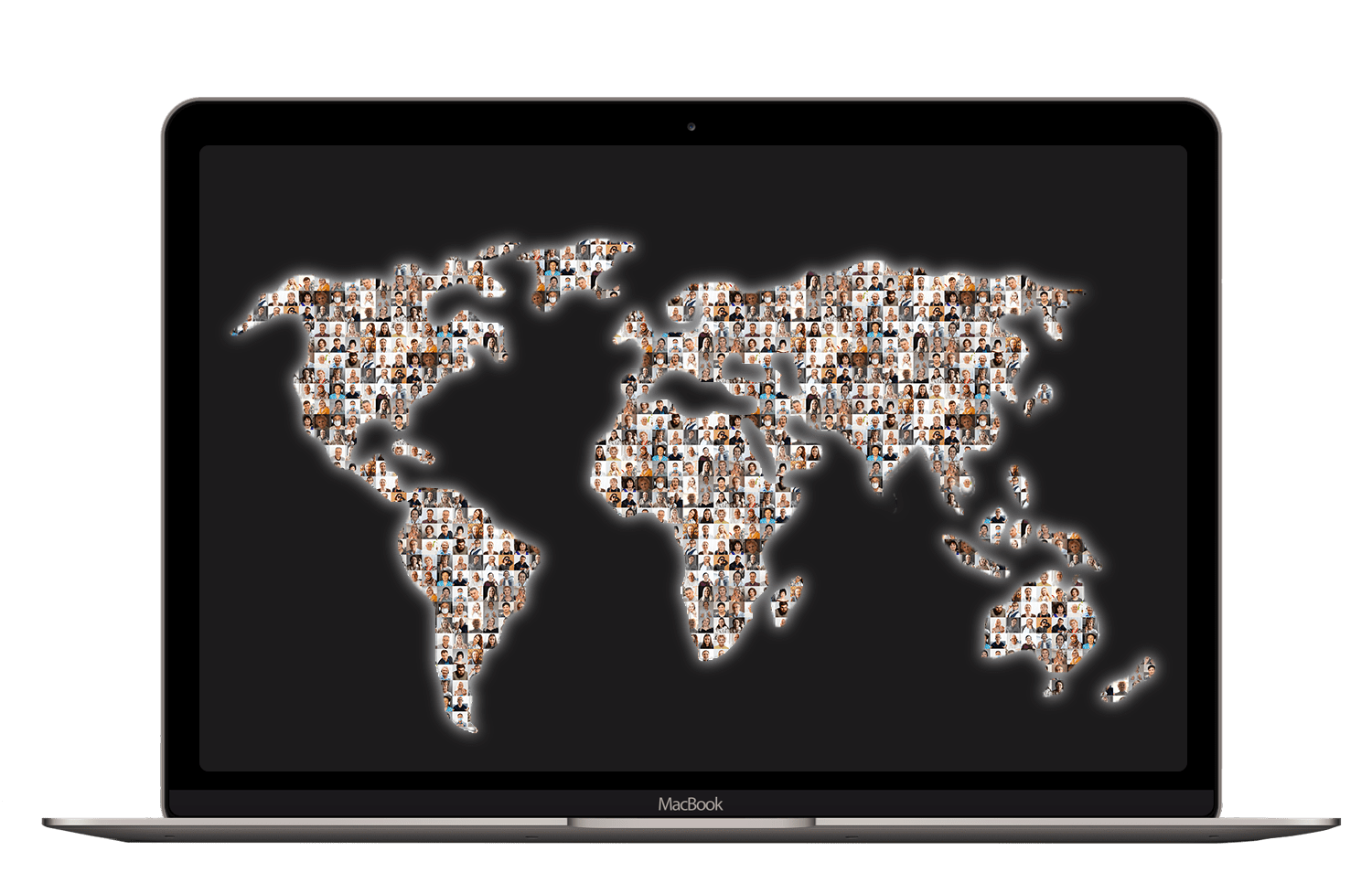 A world map showing how many people around the world we are connecting with our online mentoring platform.