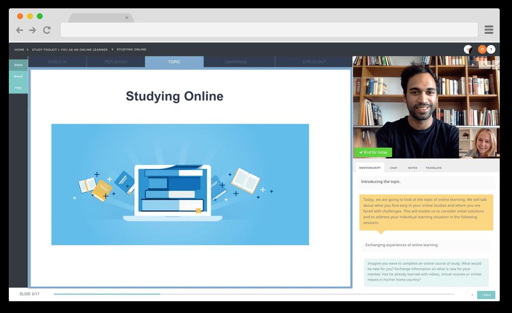 A screenshot of the beta version of our platform.