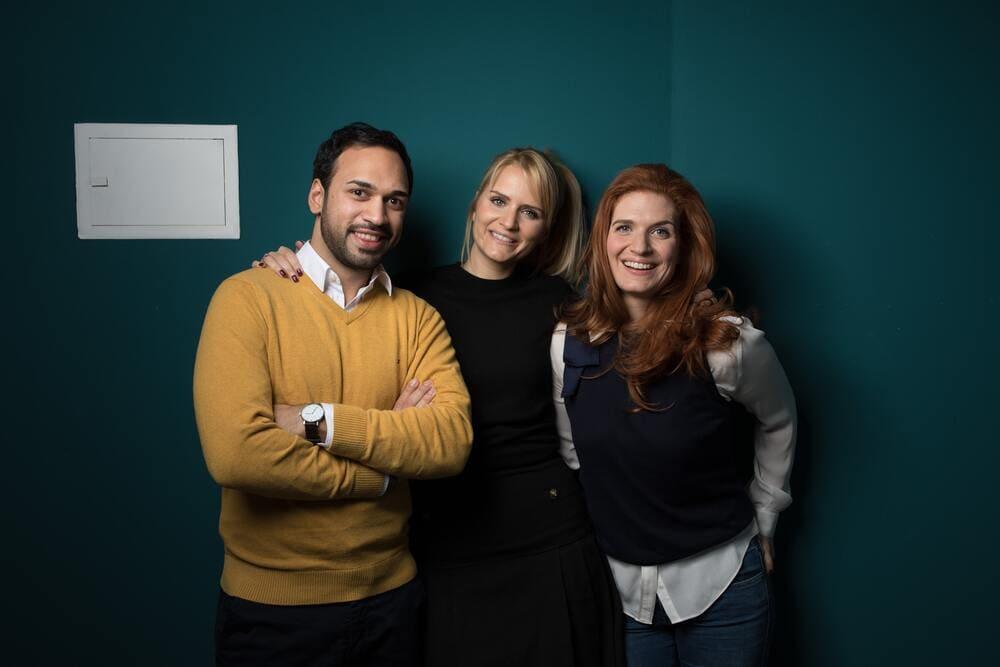 The founder team: Simon Fakir, Suska Dreesbach and Julia Winkler.