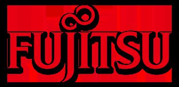 Logo of Fujitsu.