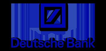 Logo of Deutsche Bank.