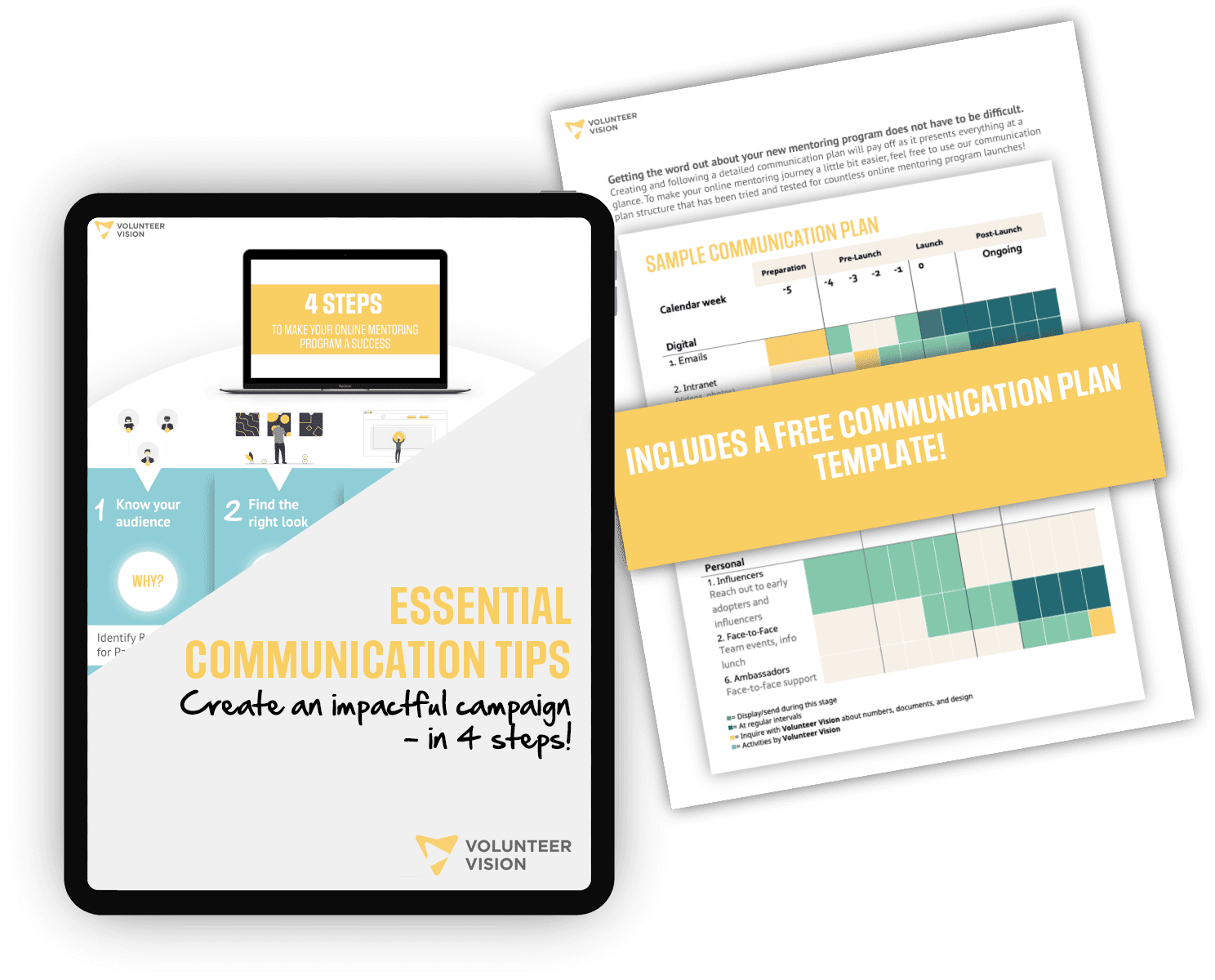 A mockup of our short communication guide.