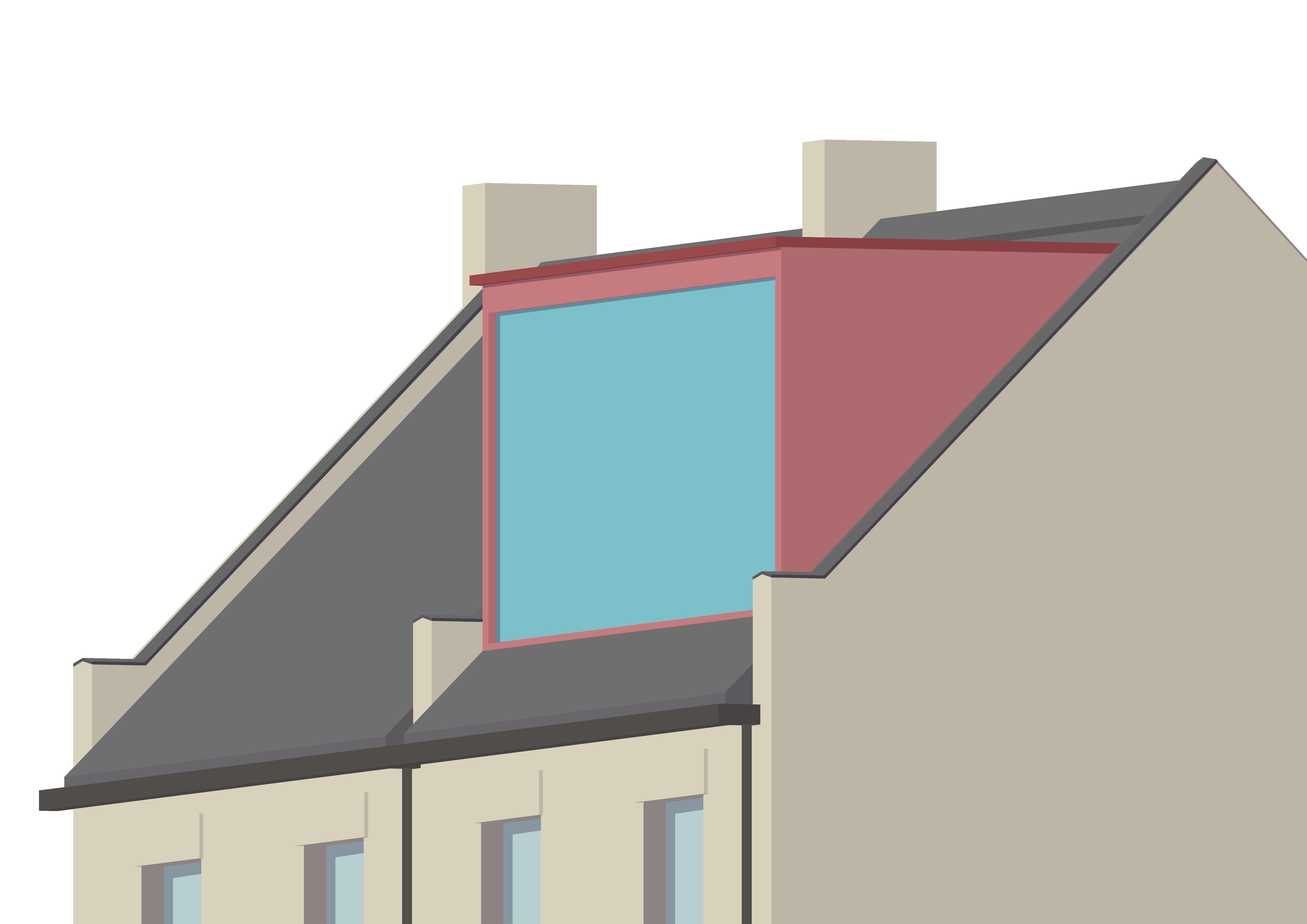 A modern rear dormer loft conversion on a terraced house