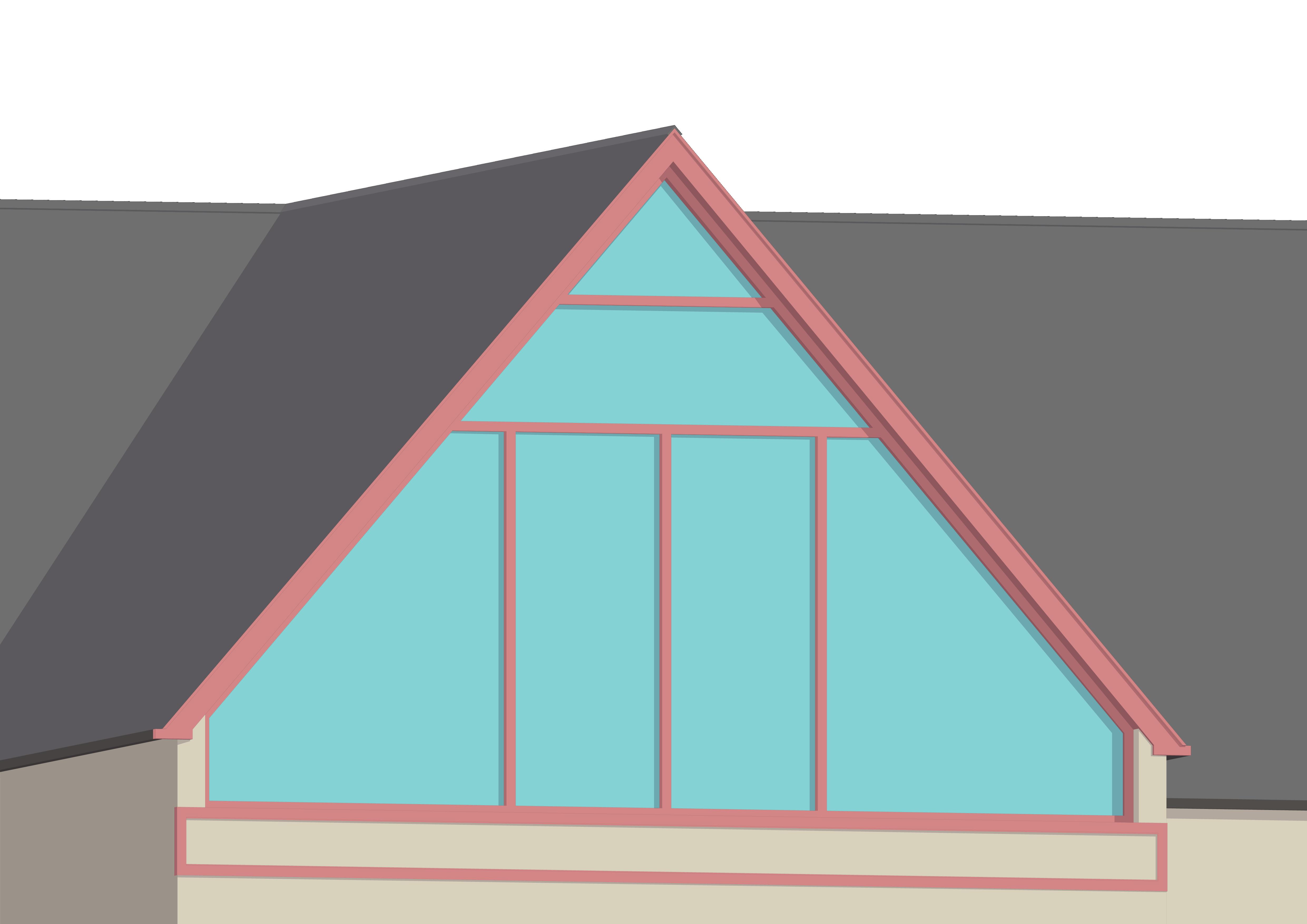 A contemporary gable end window loft conversion on a detached house