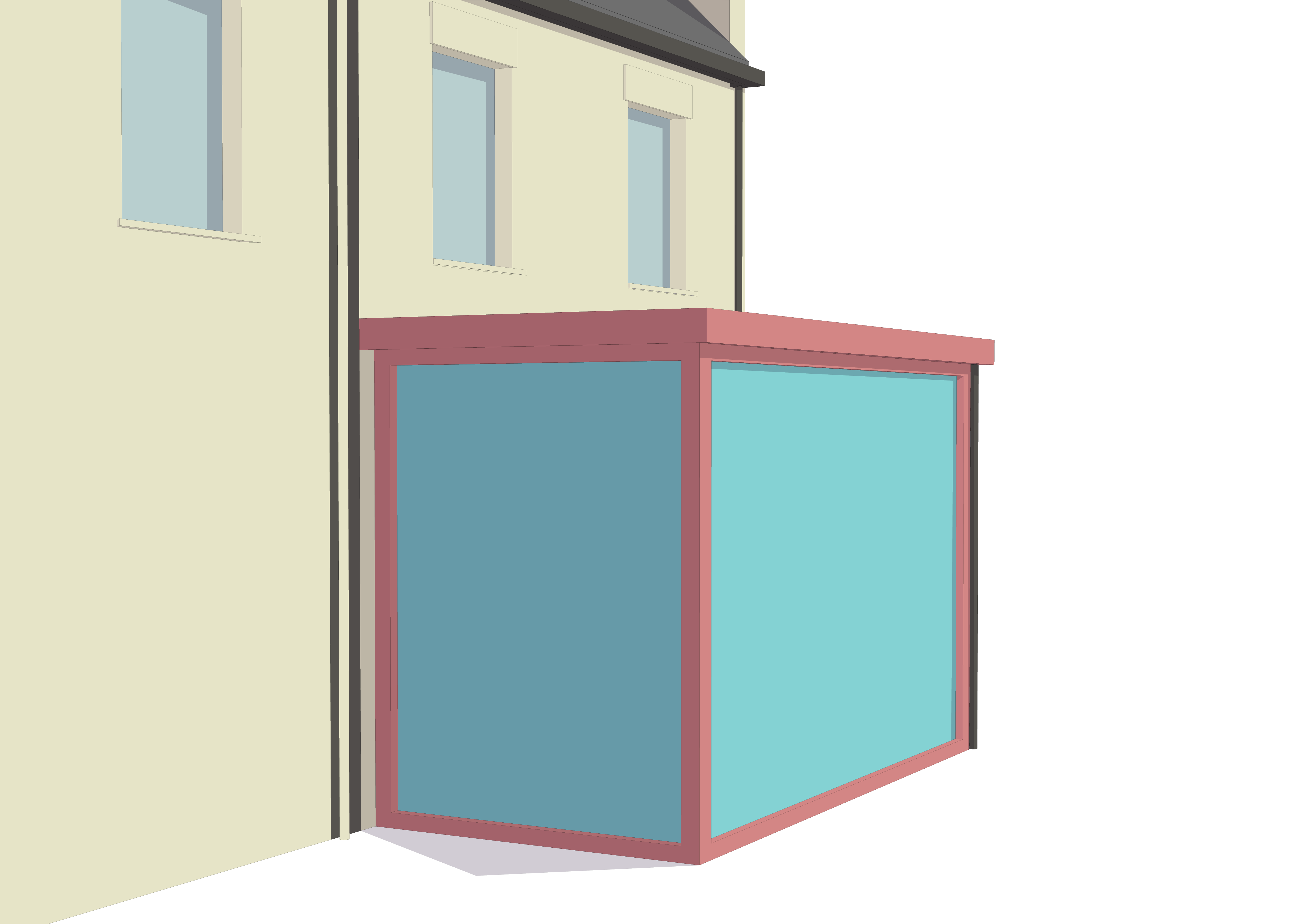 A modern single storey house extension