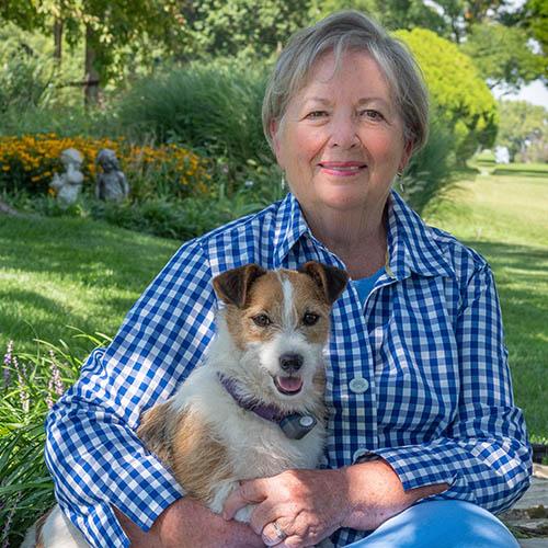 Jerilynn's portrait with her dog
