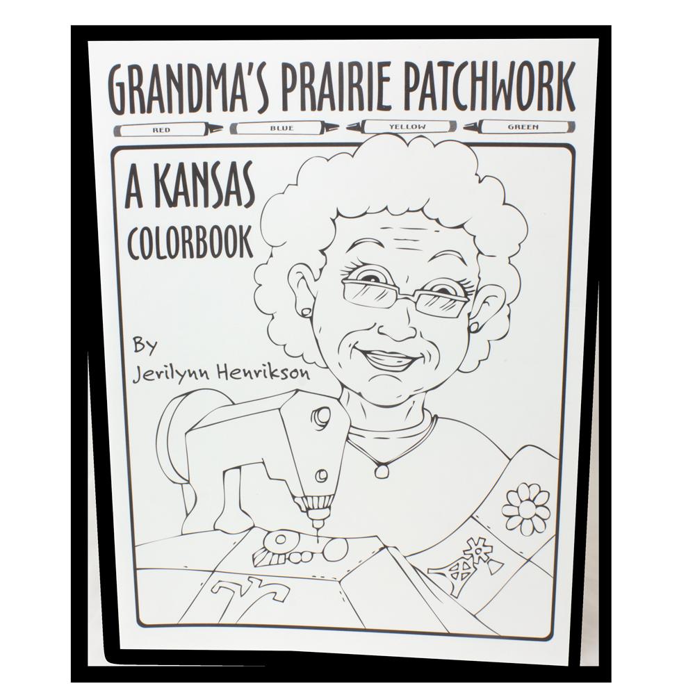 Grandma's Prairie Patchwork Kansas Color Book