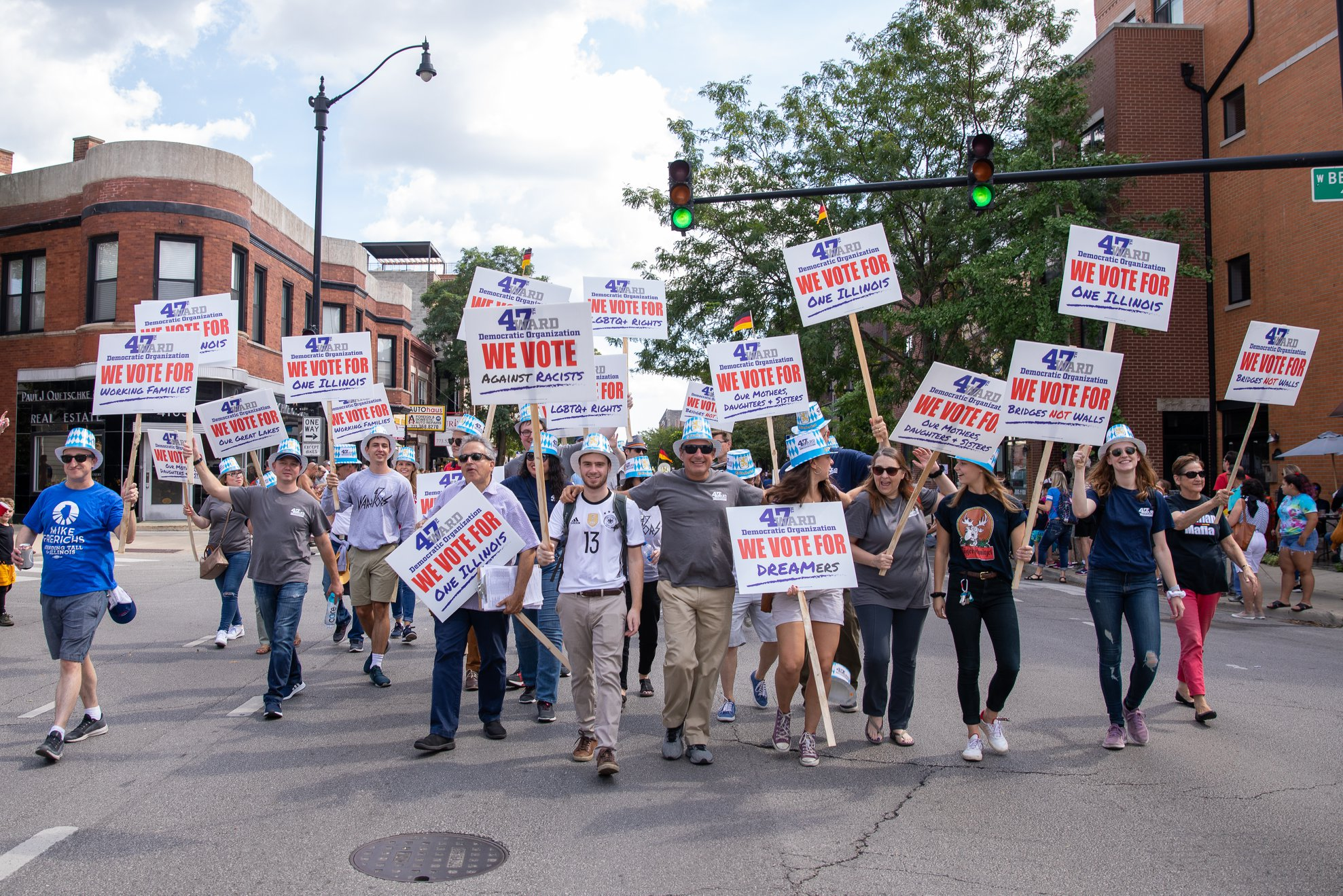 Image of 47th Ward members marching.