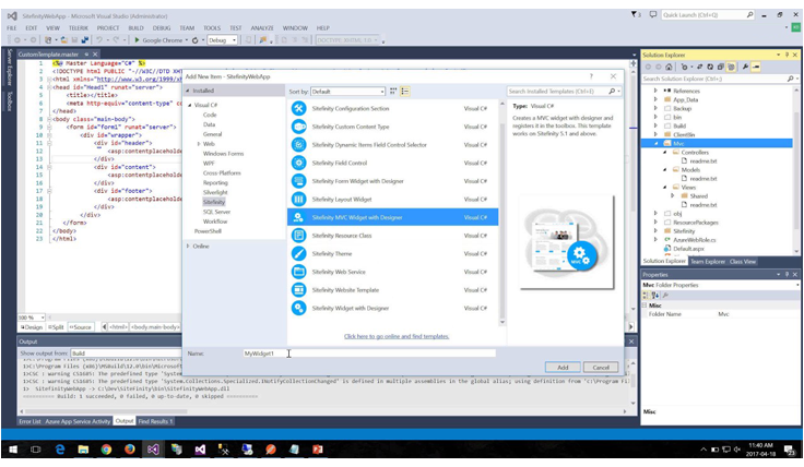 Corporate Web Developer - Visual Studio