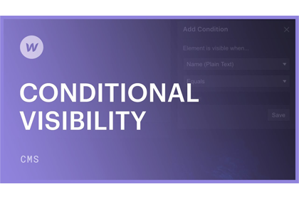 Web Nomad Community Support - Conditional Visibility