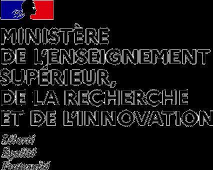 Ministère de l'enseignement supérieur de la recherche et de l'innovation Logo