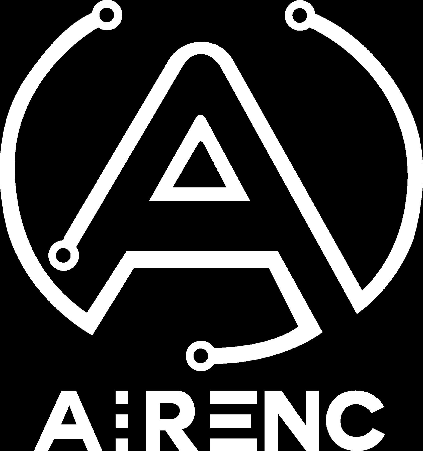 White AIRENC logo