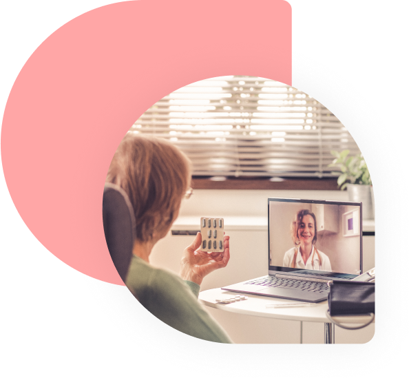 Laptop Video Call with Doctor