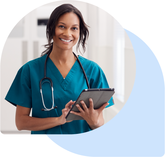 Nurse with Tablet Device