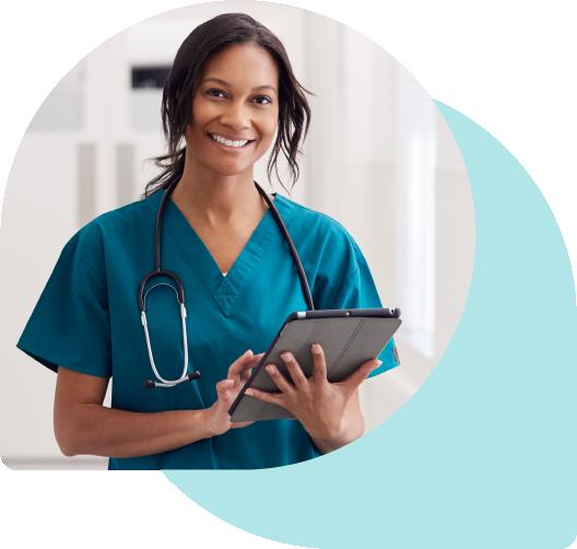 Nurse using Tablet Device