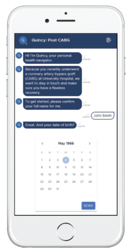 An image showing the Quincy Post CABG Surgery Chatbot