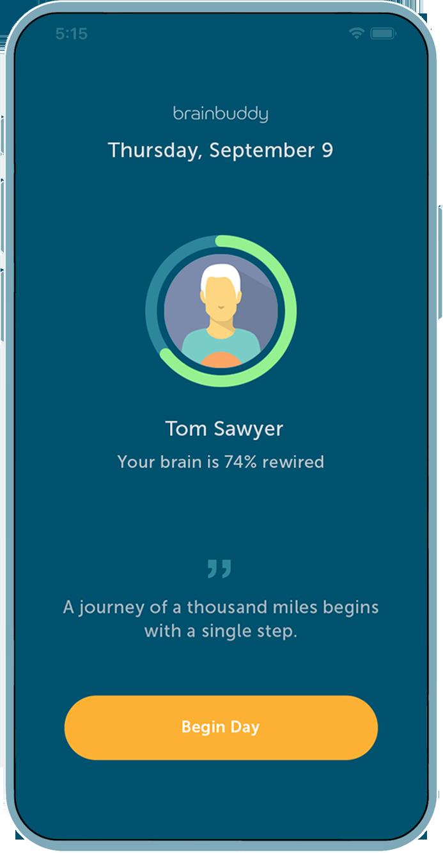 Brainbuddy porn addiction app screenshot