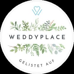 Siegel von Weddyplace für pollography wedding Hochzeitsfotograf in Freiburg