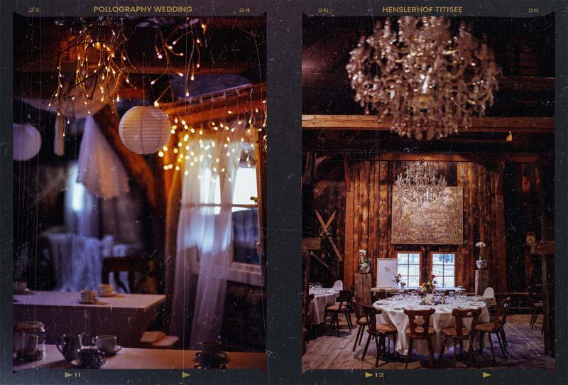 winterliche Hochzeitslocation Henslerhof Titisee Neustadt fotografiert vom Hochzeitsfotografen Team pollography wedding aus Freiburg