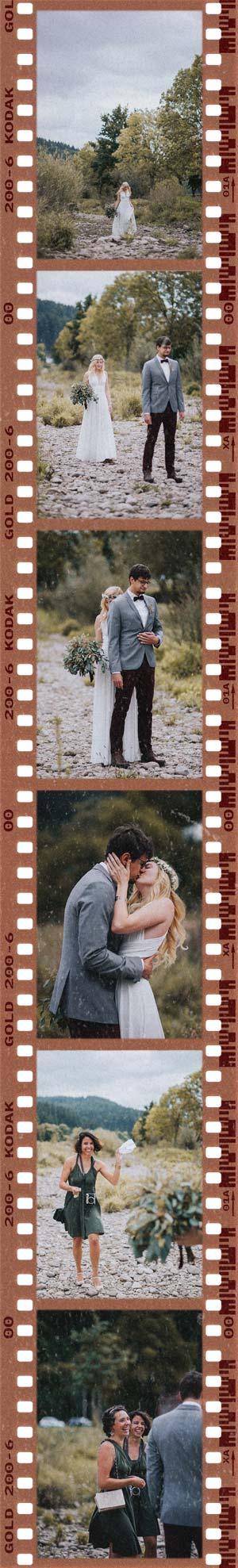 Hochzeitsfotos First Look in Freiburg an der Dreisam fotografiert vom Hochzeitsreportage Team pollography