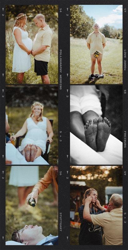 ungestellte Hochzeitsfotos der feiernden Hochzeitsgesellschaft fotografiert vom Hochzeitsfotografen Team pollography wedding aus Freiburg