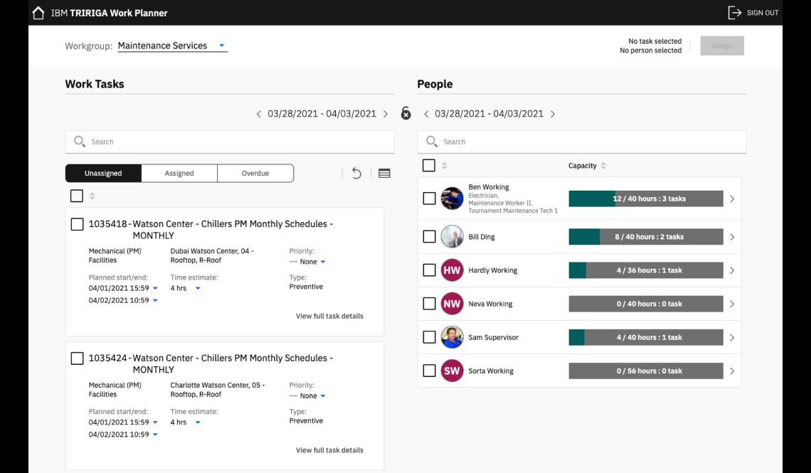 Web application screenshot