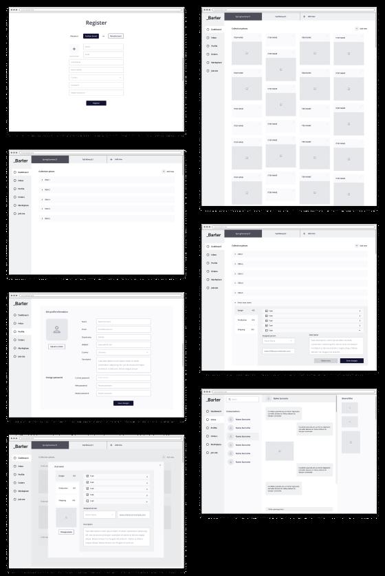 Screenshots of a web app we made