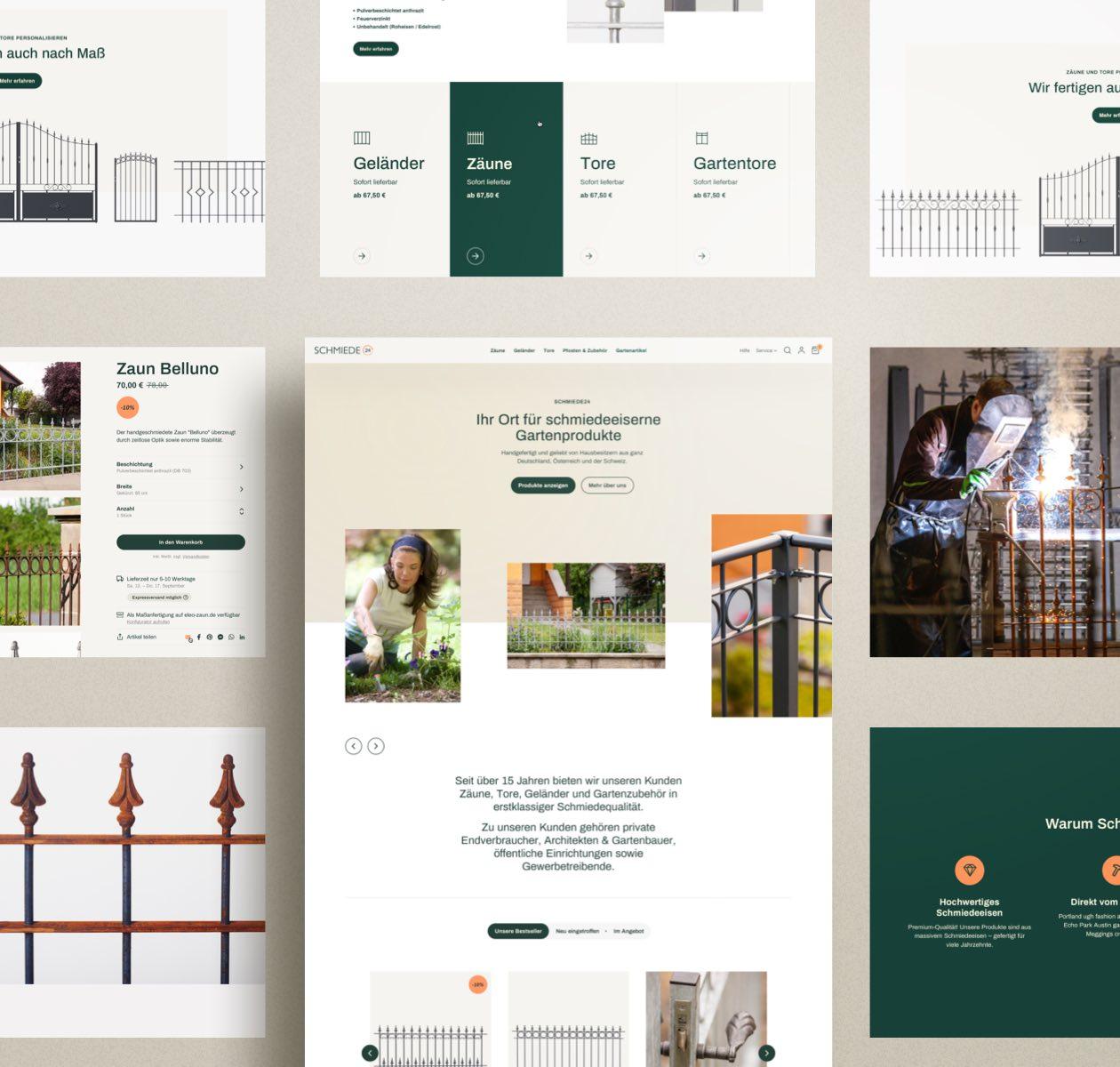 Schmiede24 Website Layout Collage