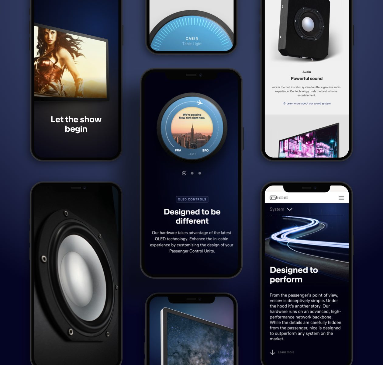 Flugzeug Entertainment Website Layout
