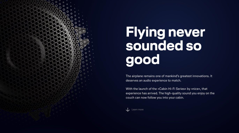 nice audio Webdesign Layout