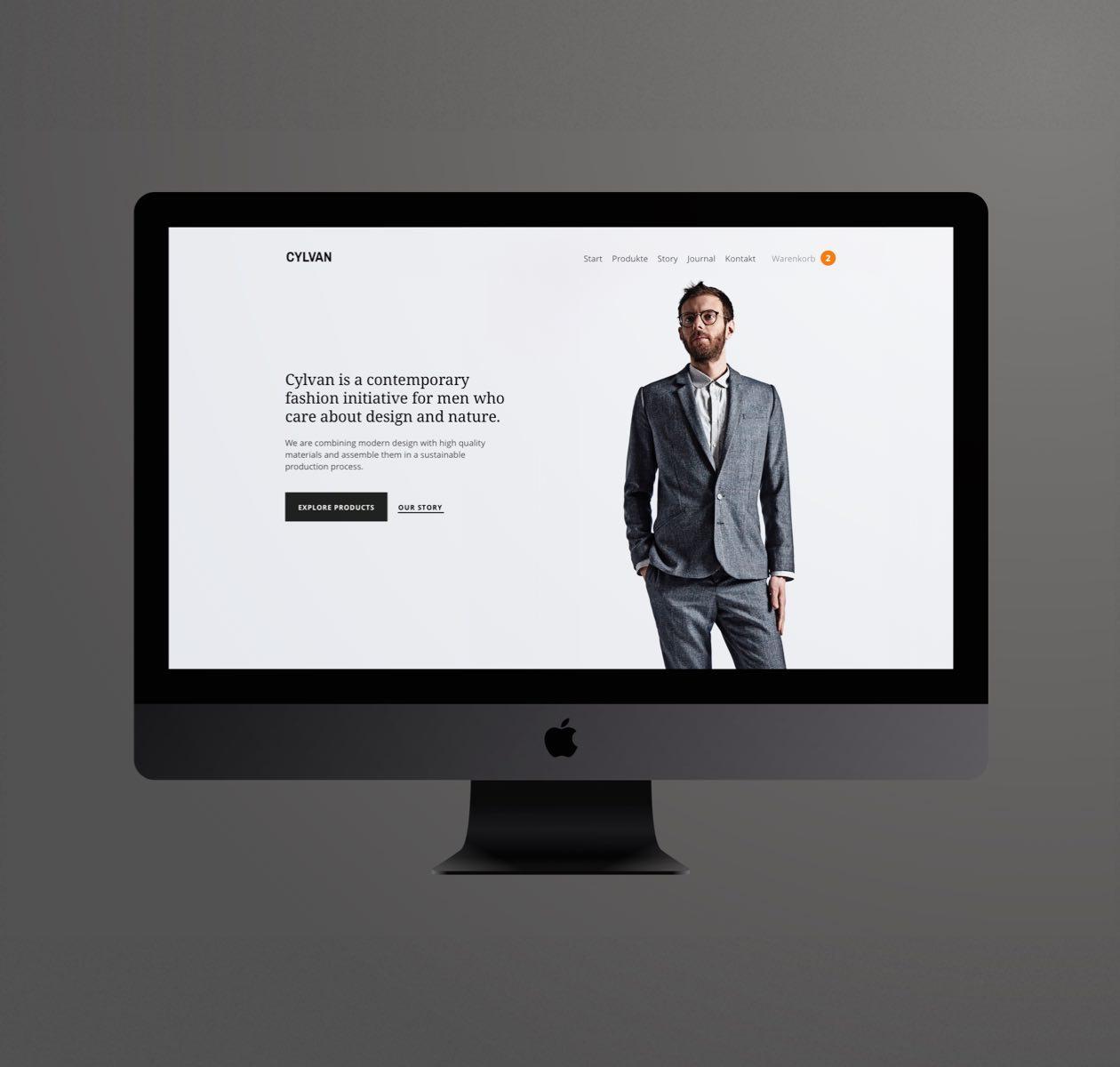 Cylvan Startseite Website Layout