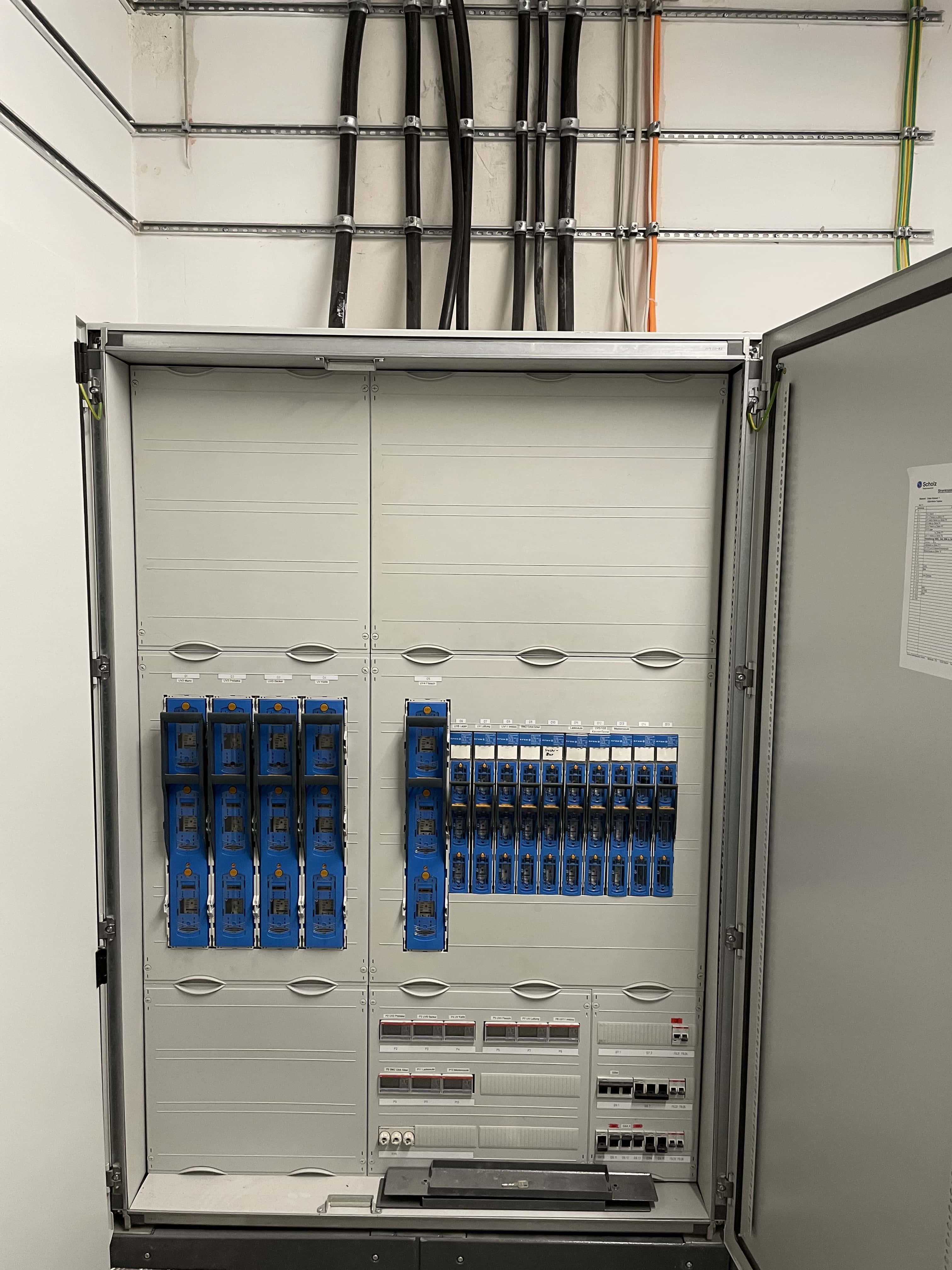 Installation und Montage eines Stromverteilers