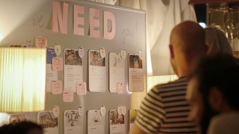 Unsere Needs-Wand