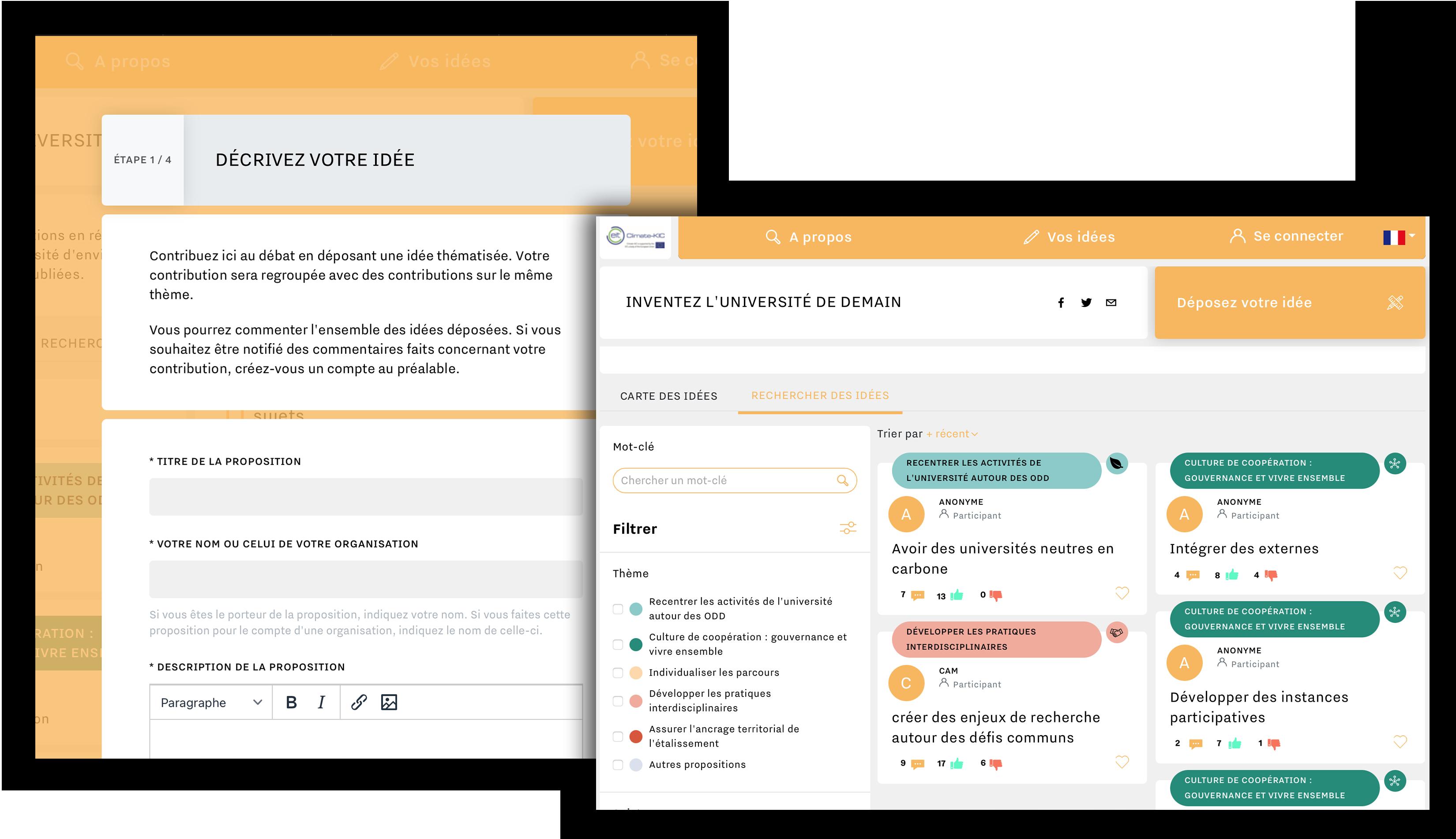 Outil de consultation en ligne - la boîte à idées numérique