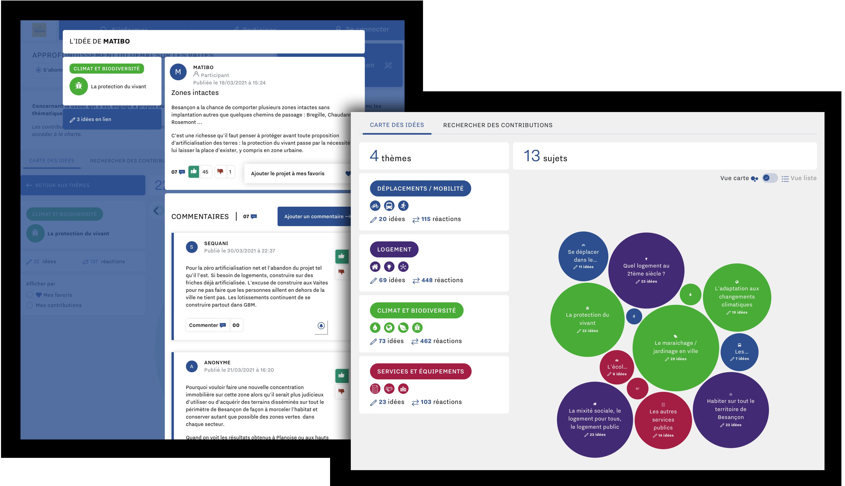 Outil de consultation numérique graphique - idéation visuelle