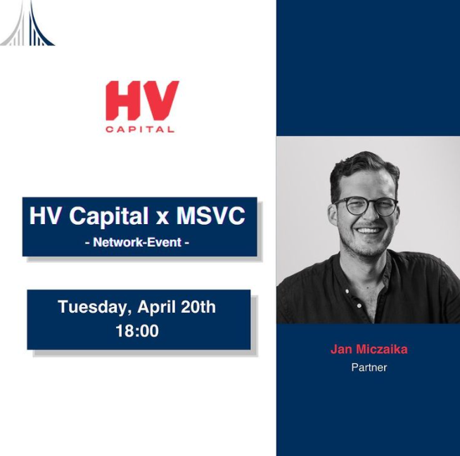Our next event is coming up! Jan Miczaika, an HV Capital Partner will share his advice for young founders, give you insights in his career path and answer your questions. Furthermore, you will learn about a few secrets behind one of the most successful funds in Germany.