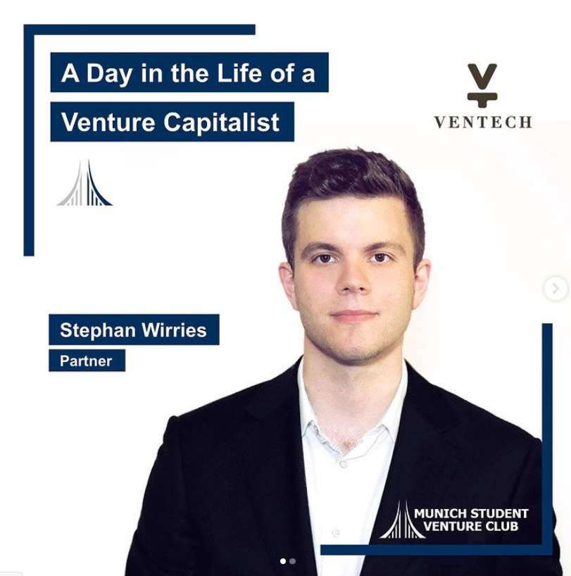 Stephan Wirries, Partner at the international VC Fund Ventech, will join us to provide fascinating insights into his background, working life and what makes Venture Capital his dream job. He will tell us about the concept of the Product-Led Growth strategy and will tell some breathtaking stories from his career, start-up deals and entrepreneurs he worked with!