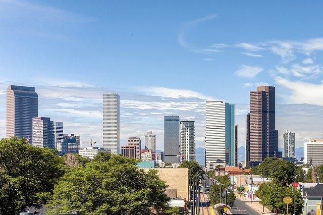 Denver skyline on a beautiful day