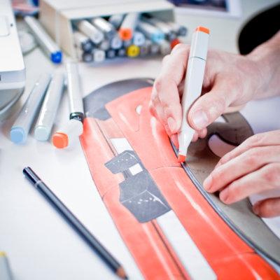 Industrial design illustration.