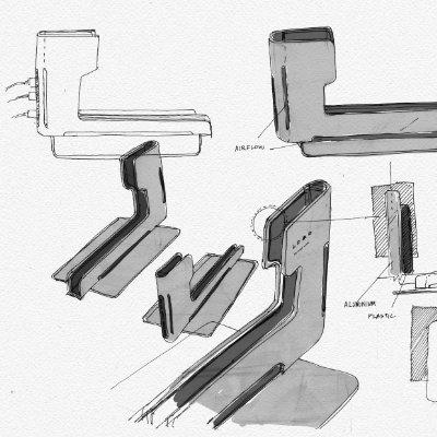 Industrial design sketches.
