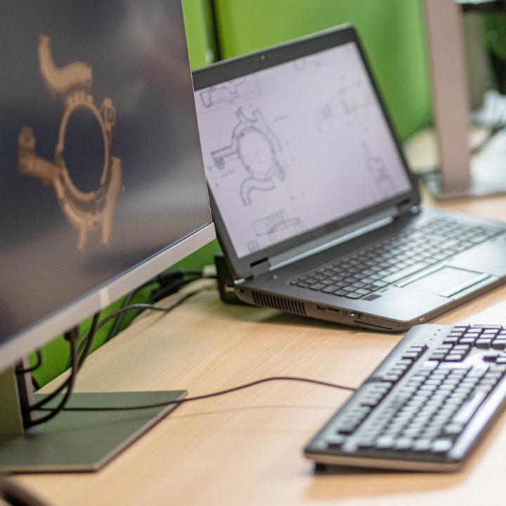 CAD design workstation.
