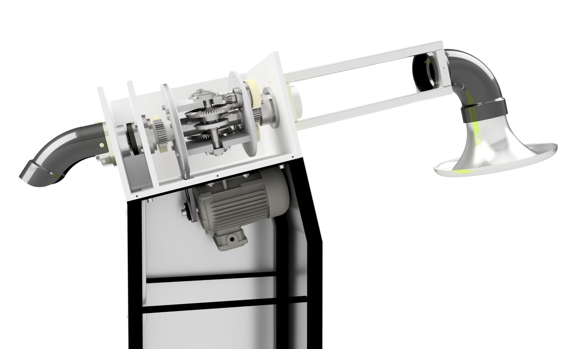 Paper Nuts machine internal render.