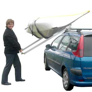 The Easy Load kayak roof rack and  the High Lift version for vans