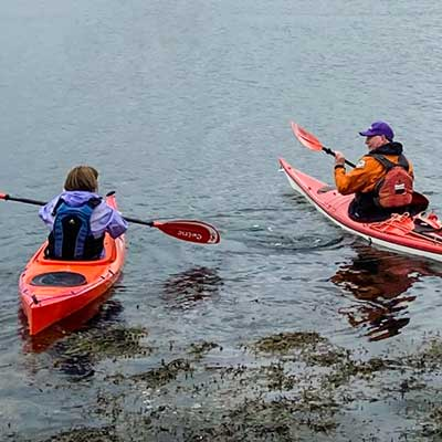 Try out different kayaks from Argyll Kayak's demo fleet