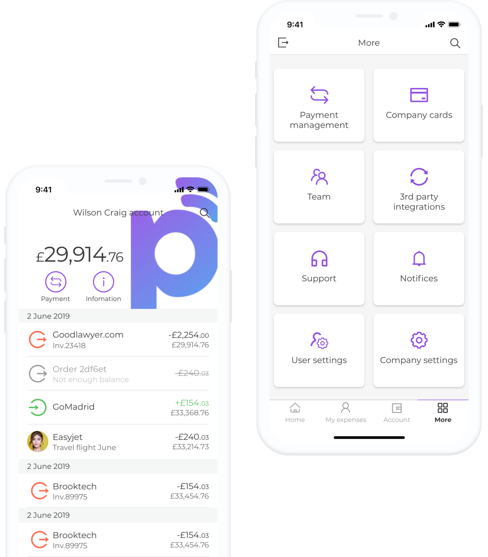 Paysme app screen examples